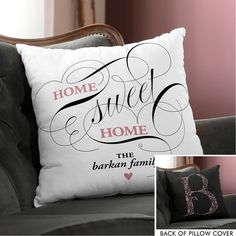 Sweet Home Throw Pillow Cover