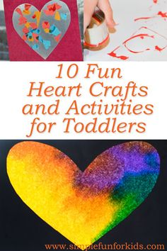 10 Fun Heart Crafts and Activities for Toddlers - Simple Fun for Kids Valentine's Day Crafts For Kids, Diy For Kids, Fun Crafts, Fun Activities For Preschoolers, Toddler Activities, Valentine Day Love, Valentine Day Crafts, Holiday Crafts, Toddler Art