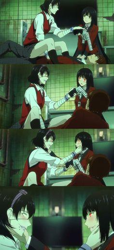 Kakegurui: Ikishima Midari and Jabami Yumeko Manga Anime, Anime Art, Yuri Anime, Manga Girl, Anime Girls, I Love Anime, Me Me Me Anime, Live Action, Ecchi
