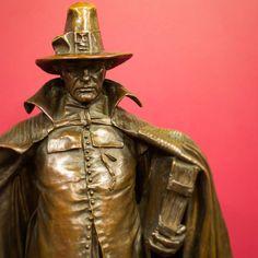 "Augustus Saint-Gaudens (American sculptor, 1848-1907), ""The Puritan"" detail, 1899, bronze, Lyman & Merrie Wood Museum of Springfield History, Springfield Museums, Springfield, Massachusetts, Gift of Mrs. Harry A. Wood"
