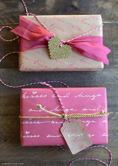 Fans of The Notebook will love this romantic option for wrapping gifts. All it takes is a steady hand and some creative quotes.