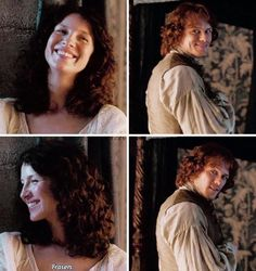 Happier times for Jamie and Claire