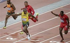 Usain Bolt win men's 100m final in 9.63 seconds - a new Olympic record