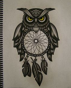 Sketches Of Owl Tattoos Owl filter of dreams by frah Dream Catcher Drawing, Owl Dream Catcher, Dream Catcher Tattoo, Atrapasueños Tattoo, Buho Tattoo, Tattoo Quotes, Future Tattoos, New Tattoos, Cool Tattoos