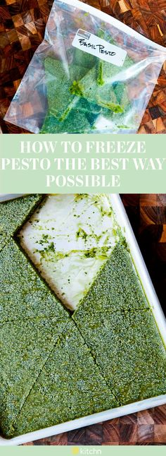 If you're the kind of person who holds onto fresh herbs more than you can manage, then think about freezing them. This tutorial shows you how to freeze pesto sauce using the best method possible. This method allows you more flexibility for all your pesto topping desires.