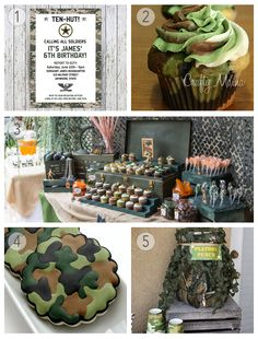 Camo Army Party Ideas