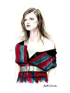 Beautiful Fashion Portrait Illustrations by Caroline Andrieu