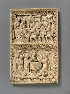 The Adoration of the Magi and Presentation in the Temple (Panel) | Place of origin: Lorraine, France (probably, made) Date: late 9th century (made)