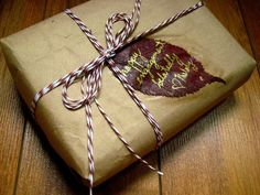 Grocery bag. Check out this post at From Scratch for more green gift wrap ideas!