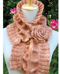 scarf with rose to warm you