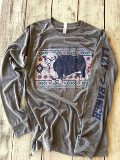 Grey Aztec Hereford Long Sleeve Tee