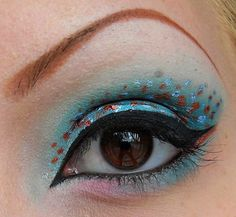 Great use for that sparkly liquid eyeliner I have.