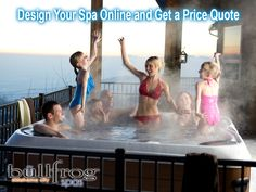 Personalize Your Hot Tub with SpaDesign You are unique and your hot tub should fit your unique life. Why would you settle for anything less? SpaDesign allows you to choose the spa model and layout you want, the JetPaks you need, and the color combination that compliments your home and landscape. Check out our design tool http://spadesign.bullfrogspas.com/