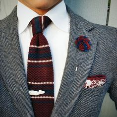Patterned Knitted Tie  $20 | Free Shipping Worldwide