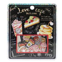 Goods mail order cinema collection for children of LOVE CAFE flake seal shiningly seal exchange woman with 50 pieces of mini-seal pack 2017AW Kamio Japan