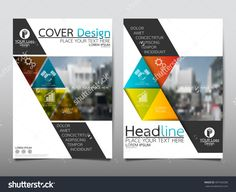 Blue and green square annual report brochure flyer design template vector, Leaflet cover presentation abstract flat background, layout in A4 size