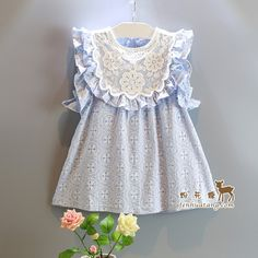 $14.93 (Buy here: https://alitems.com/g/1e8d114494ebda23ff8b16525dc3e8/?i=5&ulp=https%3A%2F%2Fwww.aliexpress.com%2Fitem%2F2015-Baby-girls-summer-cute-dress-lace-hollow-fly-sleeve-leisure-princess-ruffles-Dress-korea-style%2F32400408860.html ) 2015 Baby girls summer cute dress lace hollow fly sleeve leisure princess ruffles Dress korea style for kids for just $14.93