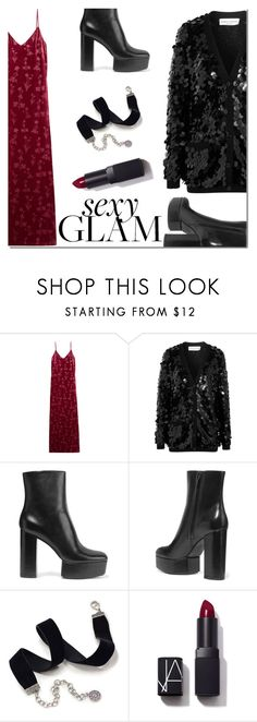 """""""Holiday Party Makeup"""" by danielle-487 ❤ liked on Polyvore featuring Elizabeth and James, Sonia Rykiel, Alexander Wang, Sweet Romance, NARS Cosmetics and goglam"""