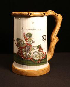 German Puzzle Mug Trick Stein with Jousting Nights - Lithophane Nude Girl Bottom | eBay
