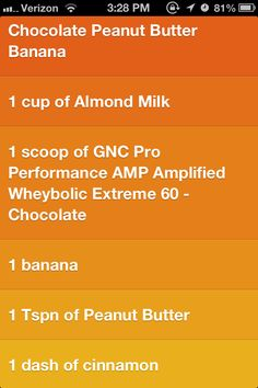 Chocolate Peanut Butter Banana. Recipe for a protein shake! #GNCTreatYourself