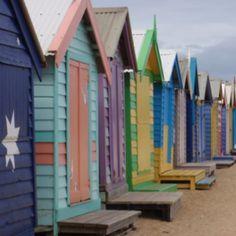 Beachhouses, colorful