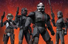 We need a Republic Commando-style game about these guys. Star Wars Fan Art, Rpg Star Wars, Star Wars Clone Wars, Star Trek, Star Wars Trivia, Star Wars Facts, Star Wars Clones, Images Star Wars, Star Wars Pictures