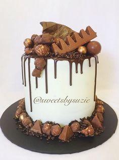 Choc drip birthday cake made by Sweetsbysuzie