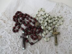 Old rosary x 2 Polishing project by Nkempantiques on Etsy