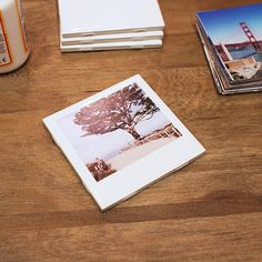 Polaroid Coasters with Instagram Prints DIY | Android & iPhone Photo Prints - PostalPix.com