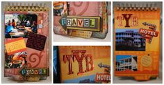 Some bits from a travel album using Basicaly Bare and Momenta goodies