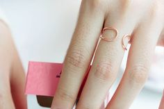 SFBF Open double line band Wire Band infinity ring by SFBF on Etsy