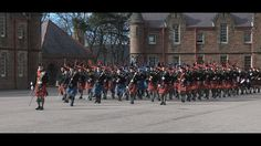 Cadets Pipe Band in the Highlands