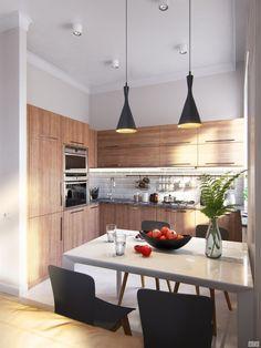светлая современная кухня