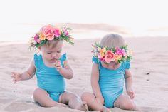 Twin Baby Girls, Twin Babies, Cute Babies, Twins, Toddler Girl Pictures, Baby Pictures, Beach Kids, Beach Babe, Tatum And Oakley