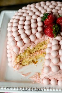 Strawberry Malted Milkshake Cake Recipe - Tastes of Lizzy T