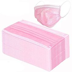 100 Pcs Disposable Earloop Face Masks Dental Surgical Hypoallergenic Breathability Comfort-Great for People with Allergies and The Flu (Pink) Best Face Mask, Face Masks, Nurse Aesthetic, Nose Mask, Black Mask, First Aid Kit, Best Face Products, Ear Loop, Bath And Body Works