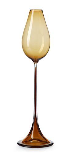 "** Nils Landberg (Swedish, 1907-1991), Orrefors, ""Tulip"" Glass Goblet."