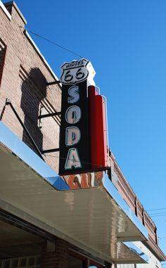 Soda Fountain in Baxter Springs Kansas  http://route66jp.info Route 66 blog ; http://2441.blog54.fc2.com https://www.facebook.com/groups/529713950495809/
