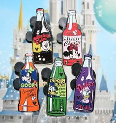 2010 Cast Disney Hidden Mickey Soda Bottle 5 pin Set - New and Used I want these