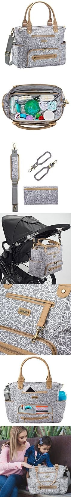 JJ Cole Papago Baby//Toddler Nappy//Diaper Backpack//Bag w//Changing Mat//Pad Grey
