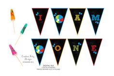 Pool Party Smash Cake Banner - I Am One Beach Ball Banner - High Chair Banner - First Birthday - Baby Photo Prop - Birthday Party by CreativePartyDesigns on Etsy First Birthday Themes, Baby First Birthday, First Birthdays, Birthday Parties, Birthday Ideas, Pool Party Decorations, Pool Party Invitations, Cake Banner, High Chair Banner