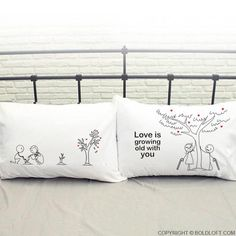 Grow Old with You™ Couple Pillowcase Set