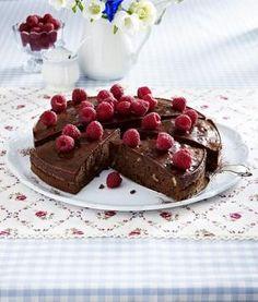 Himbeer-Brownies-Tarte Rezept