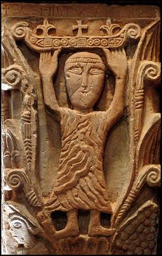 Romanesque Sculpture, Romanesque Art, Byzantine Architecture, Art And Architecture, Graven Images, Art Roman, Early Christian, Chapelle, Medieval Art