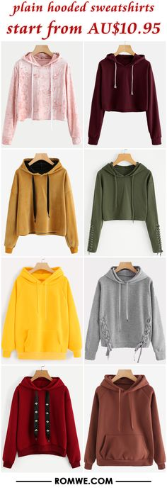 plain hooded sweatshirts from AU$10.95