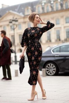 ulyana sergenko chic floral dress