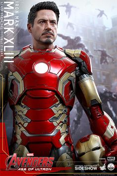 The Hot Toys Iron Man Mark XLIII Quarter Scale Figure is now available at Sideshow.com for fans of Marvel's Avengers: Age of Ultron.