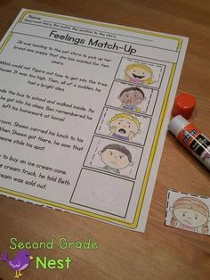 Using Poems and Text to Convey Meaning Inference Feelings- Poems and stories that convey feelings- RL First Grade Reading Comprehension, Comprehension Activities, Feelings Activities, Reading Activities, Sensory Words, Common Core Curriculum, Teaching Poetry, Speech And Language, Language Arts