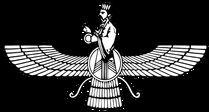 """Faravahar  E' uno dei simboli della religione zoroastriana. Rappresenta un Fravashi, ovvero una specie di """"angelo custode"""". In Persia, attuale Iran, era ed è ancora usato come simbolo di Stato.  Per saperne di più, visita: http://laveritamisteristoria.jimdo.com/dizionario-dei-simboli/"""