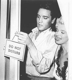 Elvis Presley and Marilyn Monroe